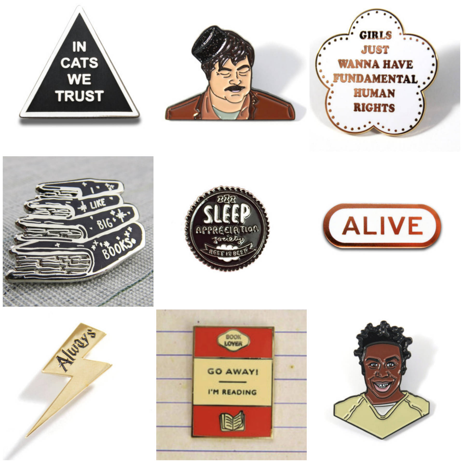 enamel-pins-pin-club-veronica-dearly-parks-and-rec-recreation-cats-orange-is-the-new-black