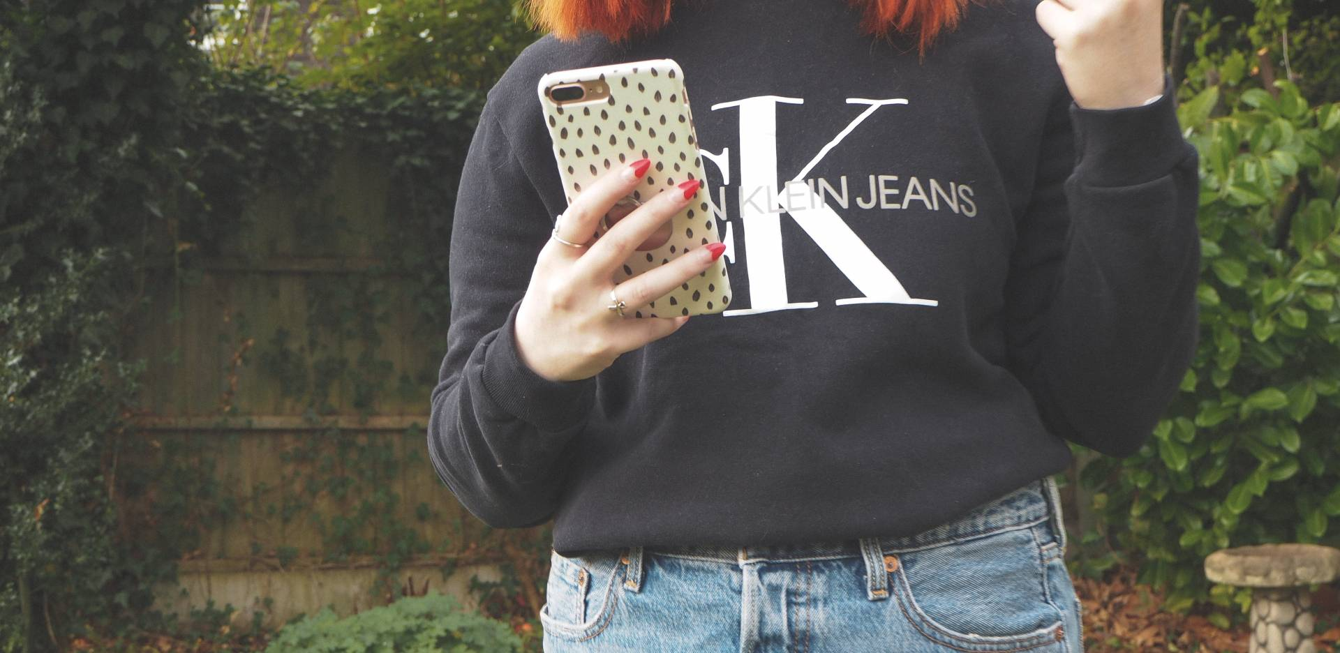 Calvin Klein, heart nails