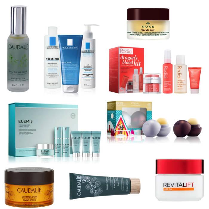 Notino Christmas Skincare gift guide, Caudalie, Nuxe, Rodial, Elemis, EOS