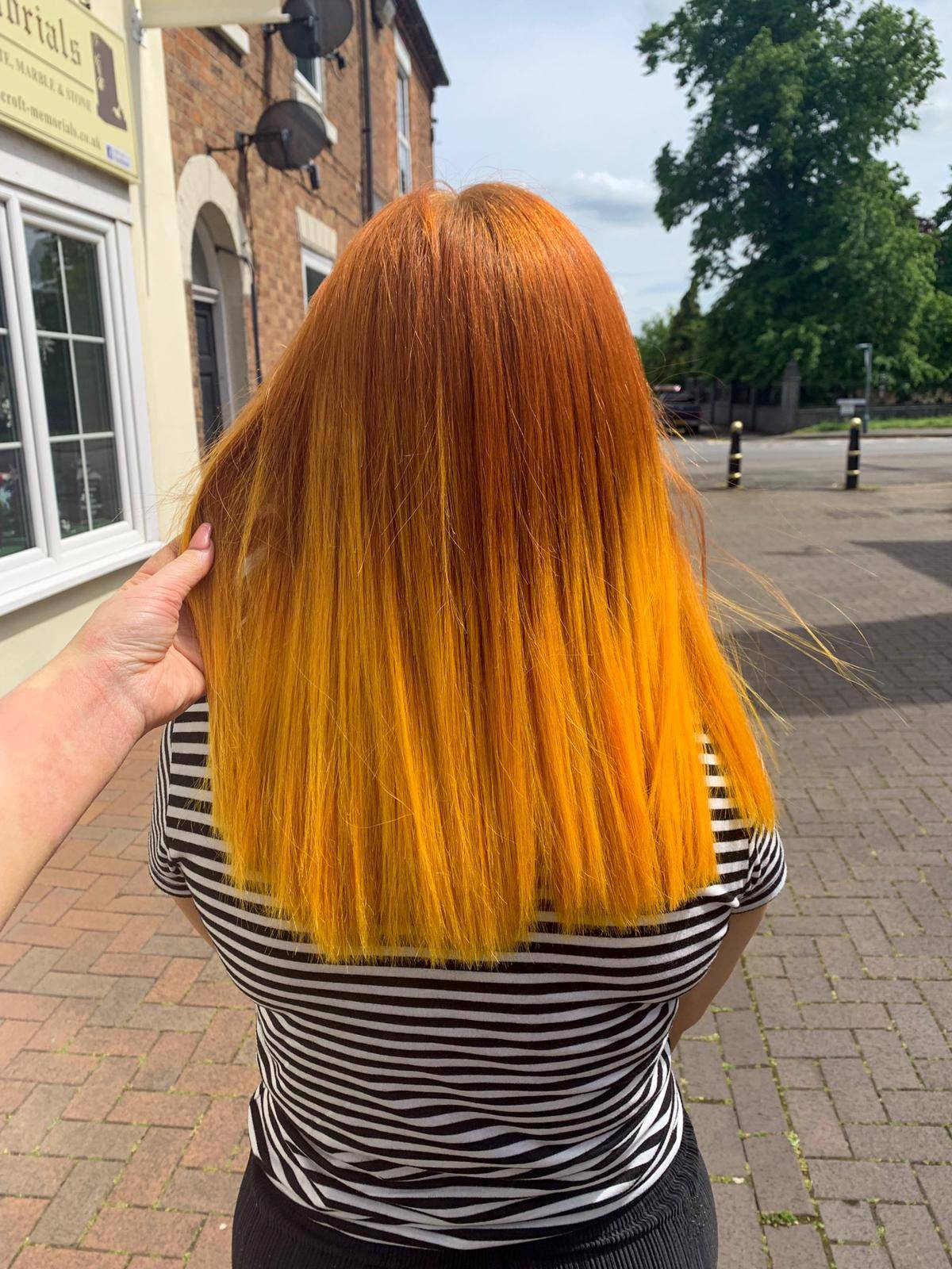 Yellow balayage at Hx Hair in Rugeley ~ STRANGENESS \u0026 CHARM