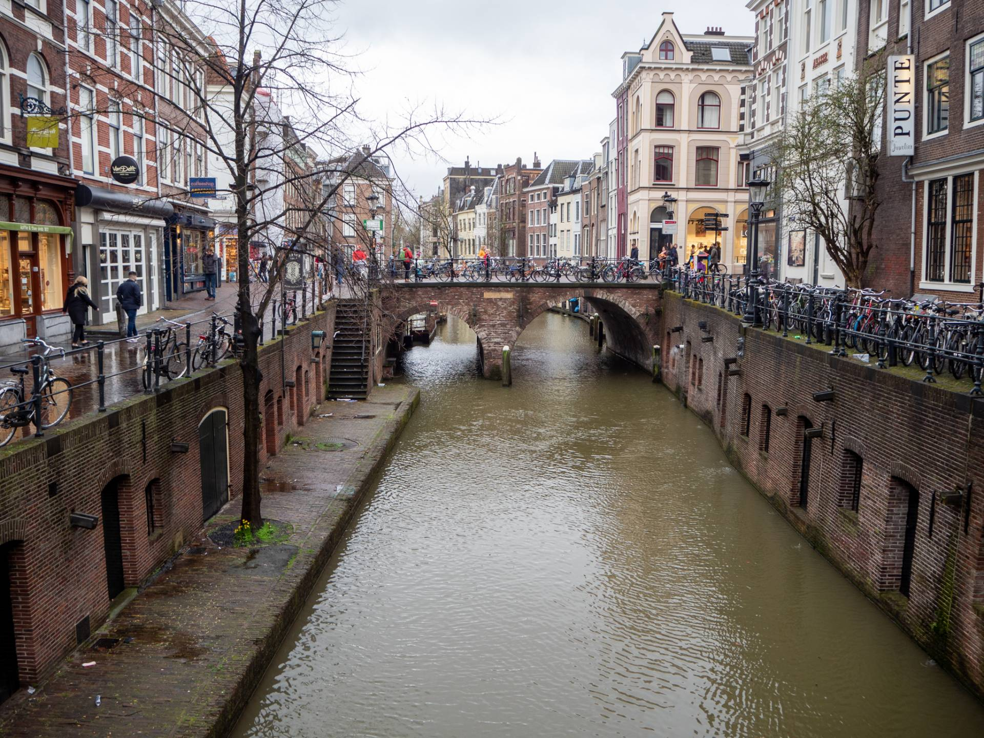 Oudegracht old canal in Utrecht