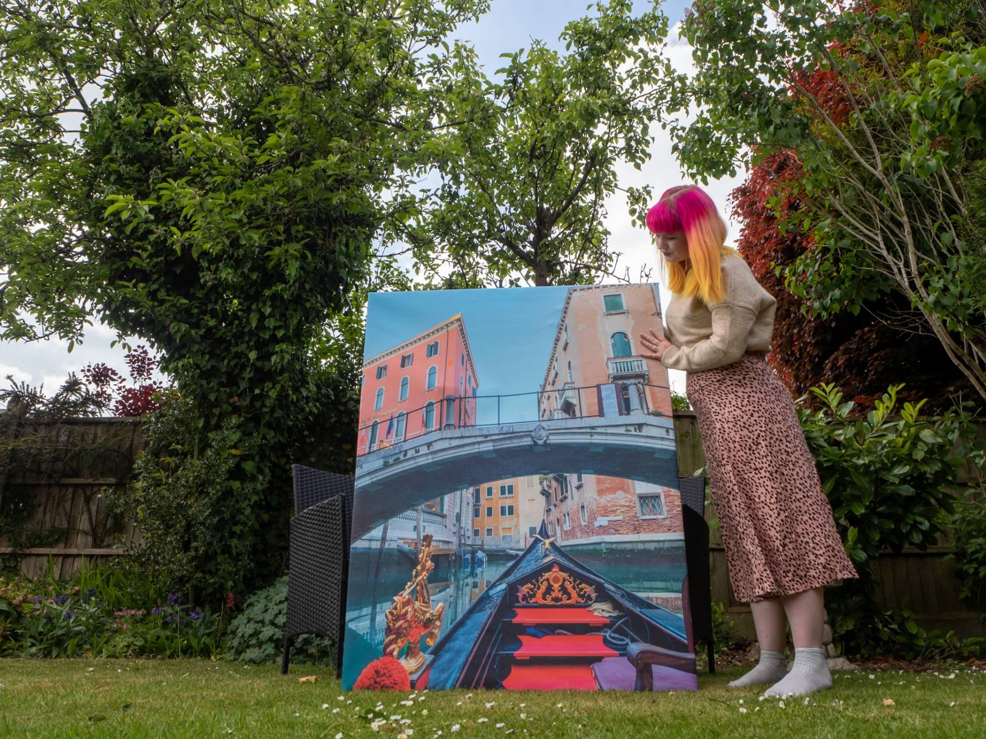 Photowall canvas print - Venice gondola ride